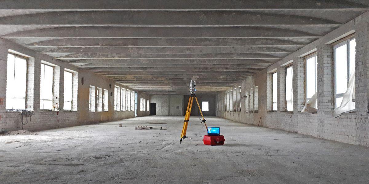 Ehitusjärgne teostusmõõdistus sisetingimustes