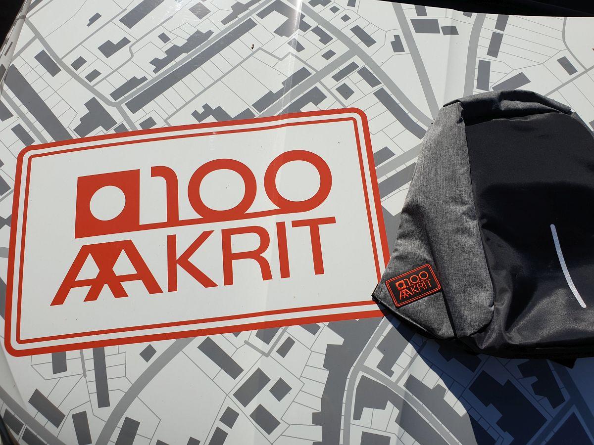100 Aakri seljakott geodeesia õppijatele